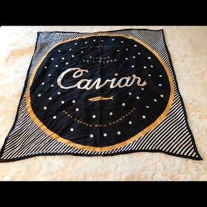 NWT Kate Spade caviar silk scarf